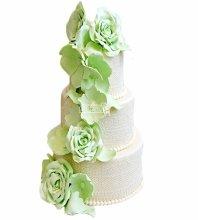 №4008 Свадебный торт с цветами