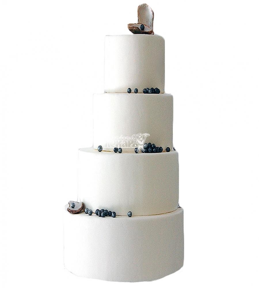 №4013 Свадебный торт с кокосом