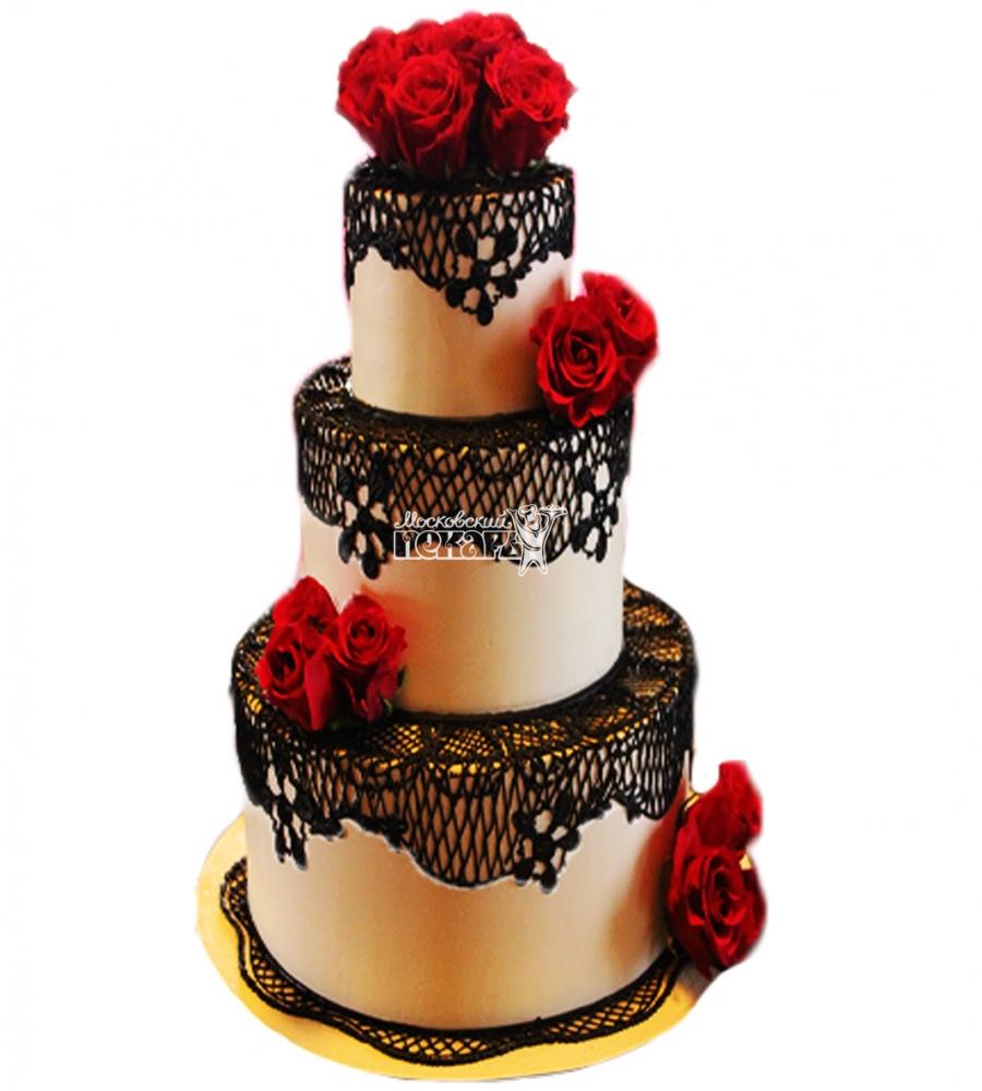 №4023 Свадебный торт с розами