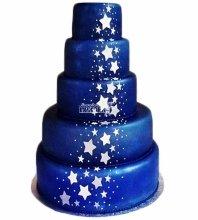 №4024 Свадебный торт со звездами