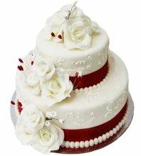№4034 Свадебный торт с цветами
