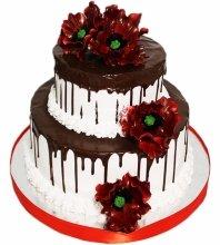№4039 Свадебный торт с цветами