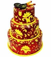 №4045 Свадебный торт хохлома