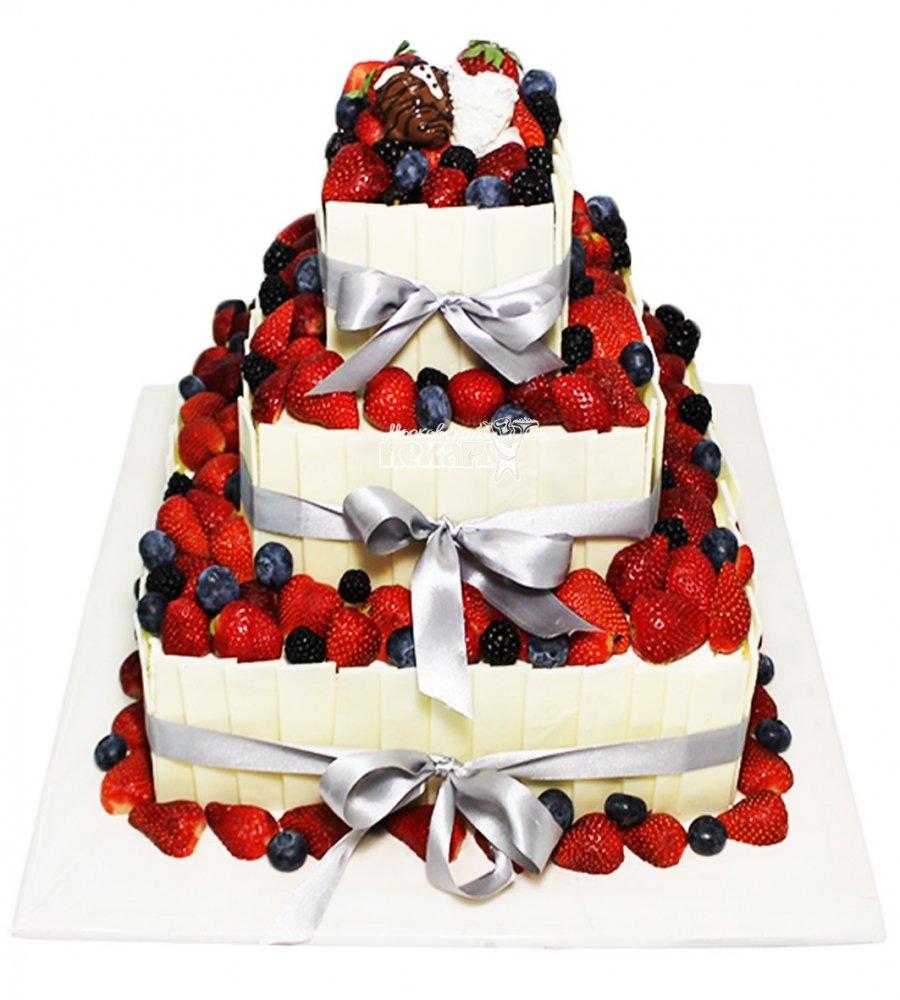 №4087 Свадебный торт с ягодами