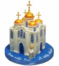 №4171 3D торт храм