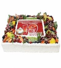 """№4206 Корпоративный торт для """"ДОМОВОЙ"""""""