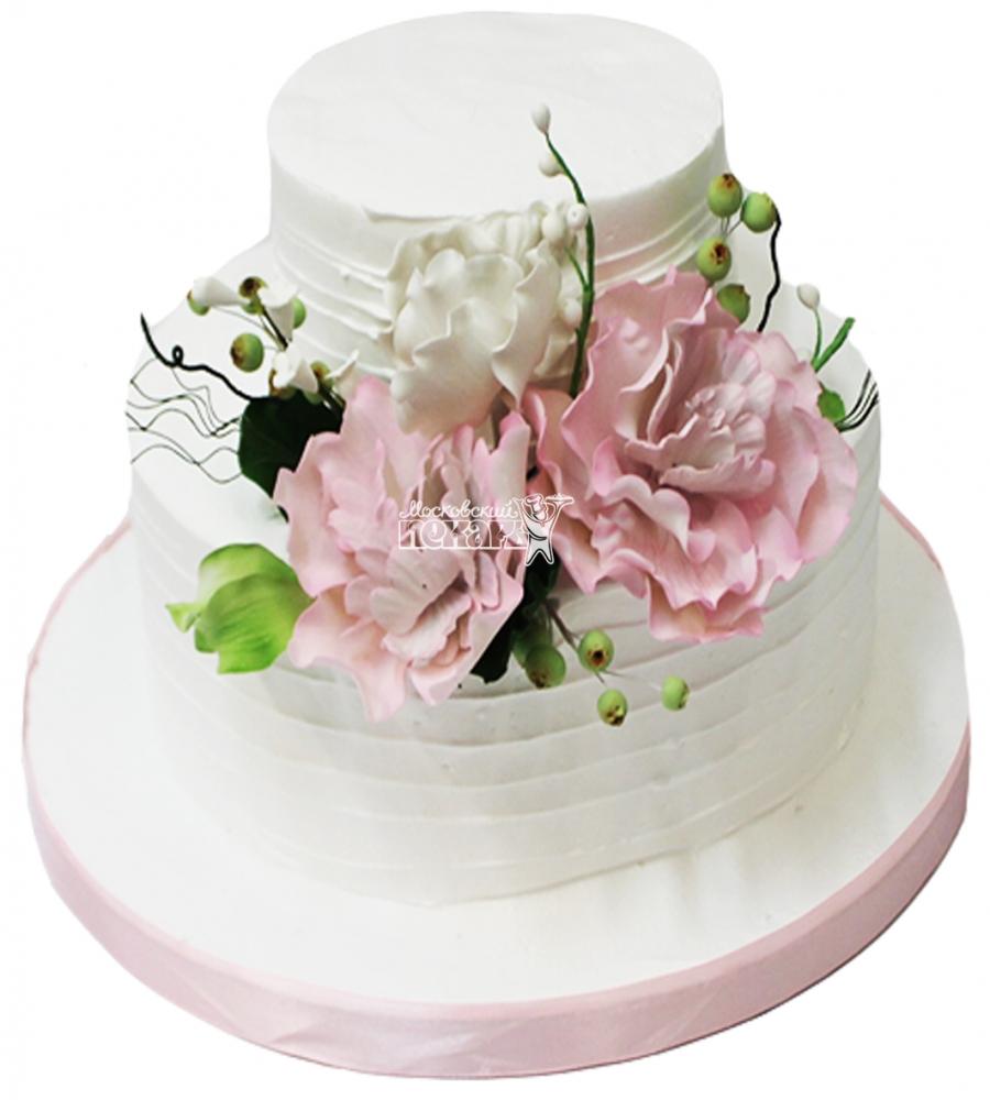 №4238 Свадебный торт с цветами