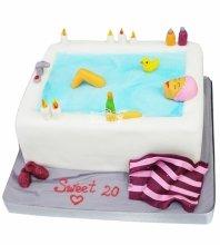 №4239 Торт девушка в ванне