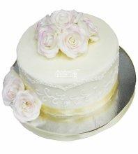 №4256 Свадебный торт с розами