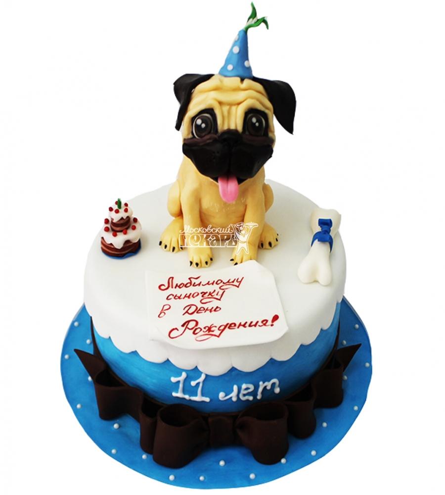 №4259 Детский торт с собакой