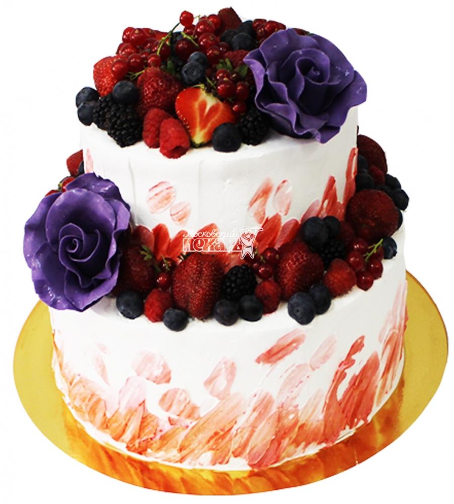 №4272 Свадебный торт с ягодами
