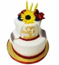 №4278 Свадебный торт в Украинском стиле