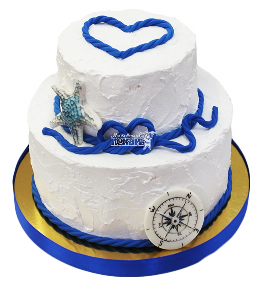 №4332 Свадебный торт морской