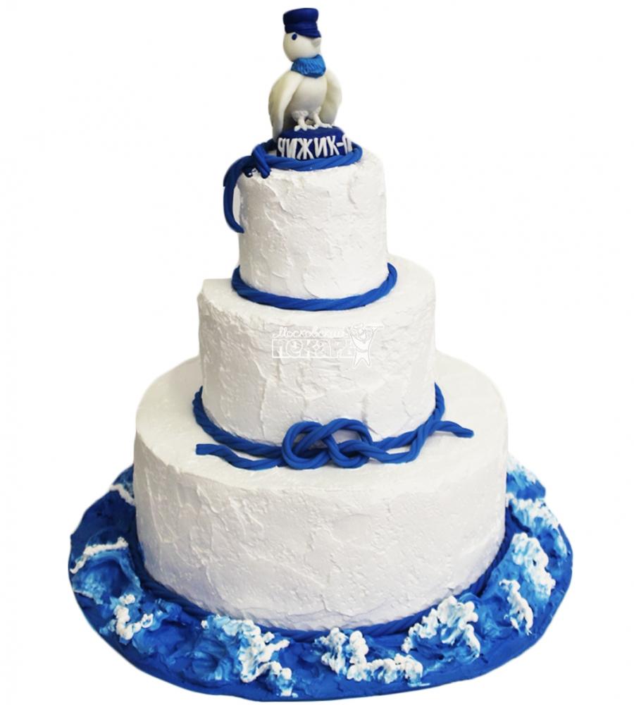 №4359 Свадебный торт морской