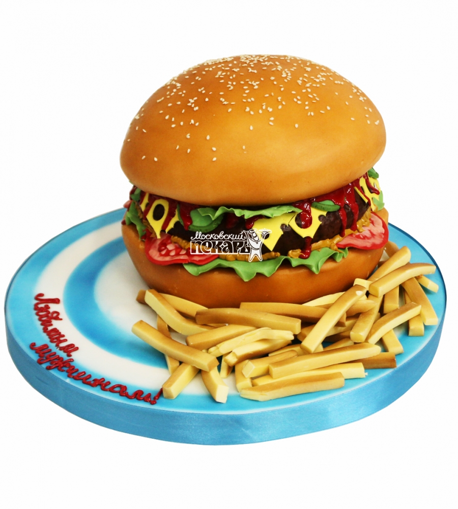 №4432 3D торт гамбургер