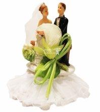 №836 Фигурка из полистирола жених и невеста 14 см