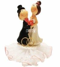 №4475 Фигурка из полистирола жених и невеста 14 см