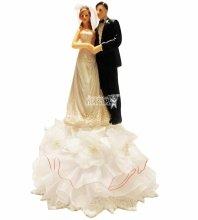 №840 Фигурка из полистирола жених и невеста 21 см