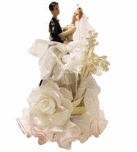 №842 Фигурка из полистирола жених и невеста 19 см