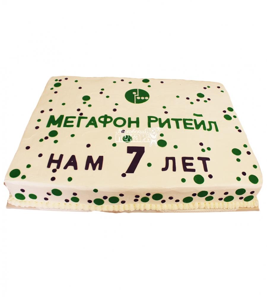 №4491 Корпоративный торт для МЕГАФОН