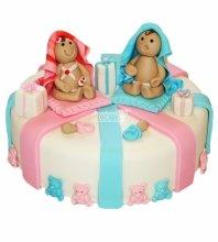 №4545 Торт близнецам