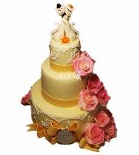 №4605 Свадебный торт с кошками