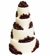 №4608 Свадебный торт с ягодами