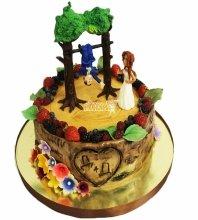 №4609 Свадебный торт небольшой