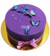 №4615 Велюровый торт с бабочками