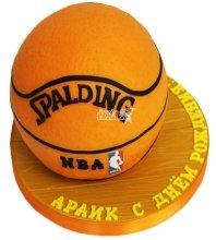 №4677 3D Торт баскетбольный мяч
