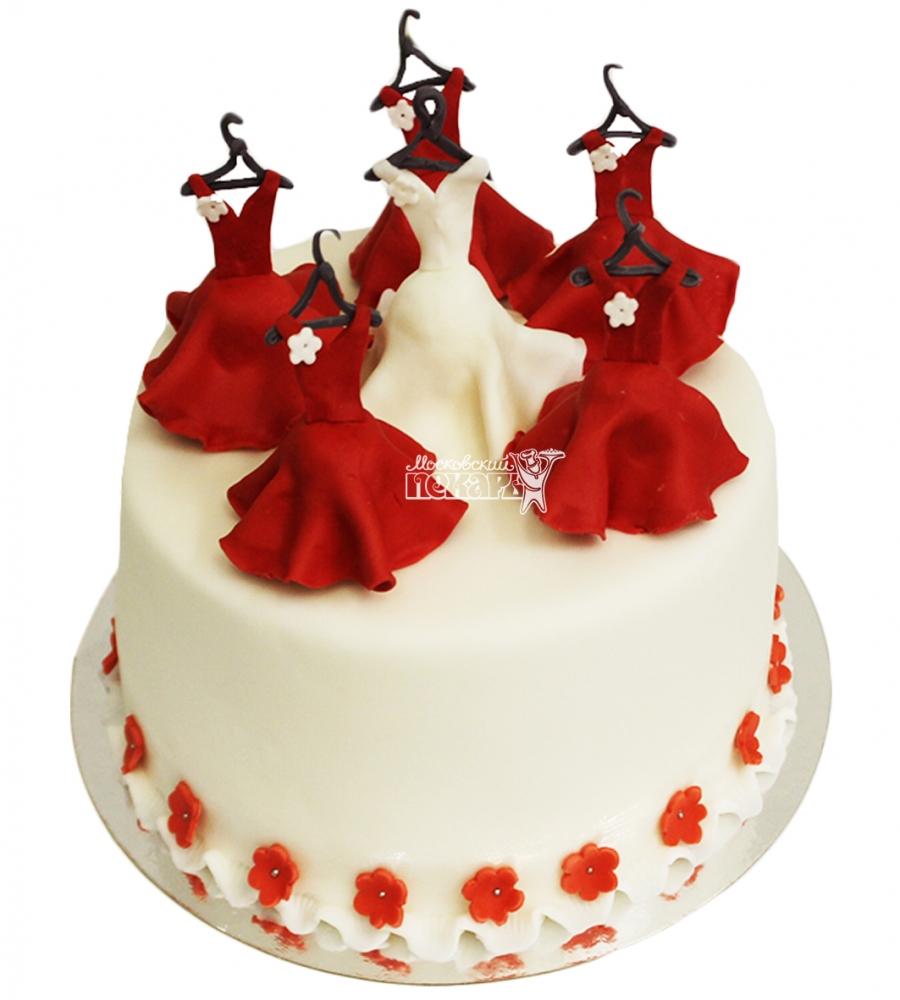 Торты на девичник с платьями