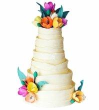 №4960 Свадебный торт с тюльпанами