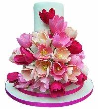 №4961 Свадебный торт с тюльпанами
