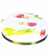 №4963 Свадебный торт с тюльпанами