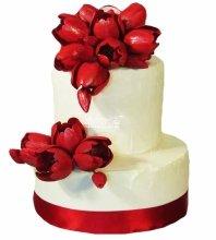 №4964 Свадебный торт с тюльпанами
