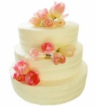 №4965 Свадебный торт с тюльпанами