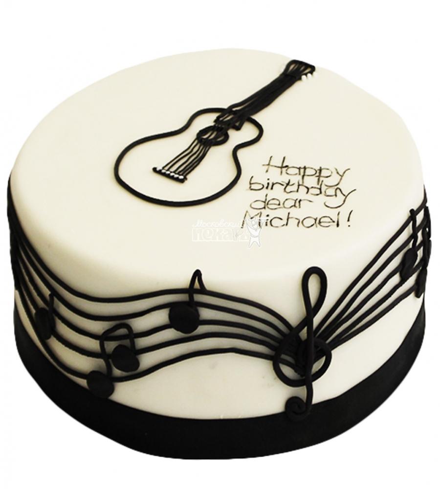 Вафельная картинка с гитарой для торта