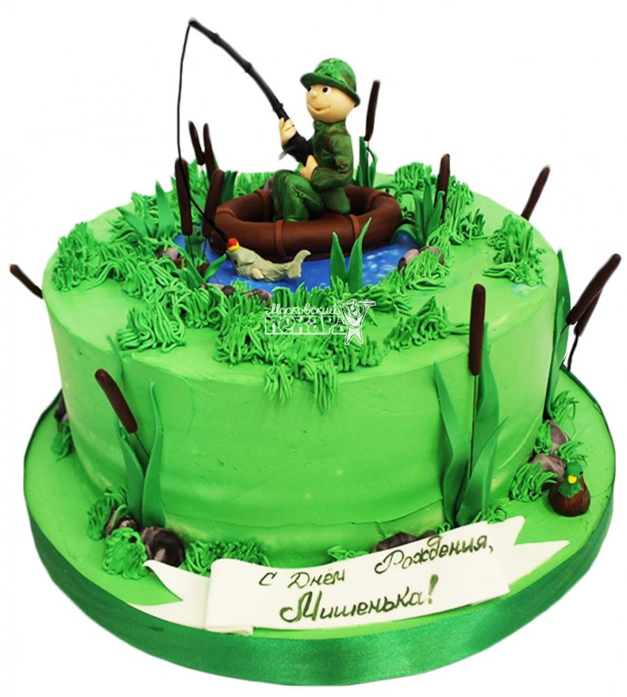 торт для охотника и рыбака фото овражками, которым